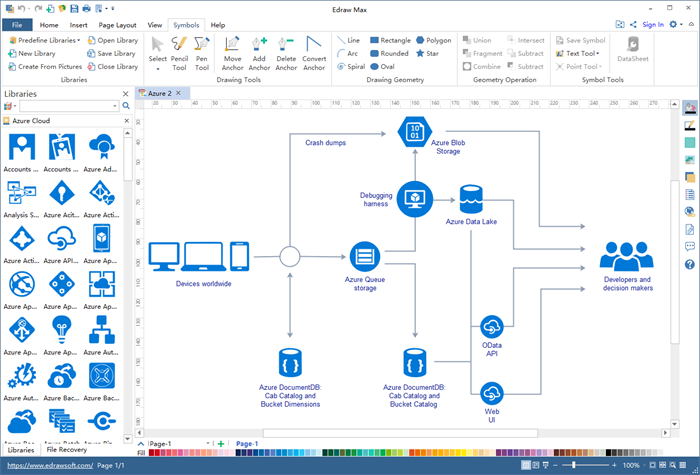 Easy Azure Diagram Software For Mac  Windows And Linux