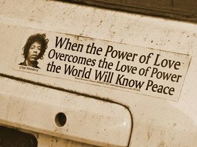 Jimi Hendrix Power Of Love Overcomes Love Of Power Peace Quote