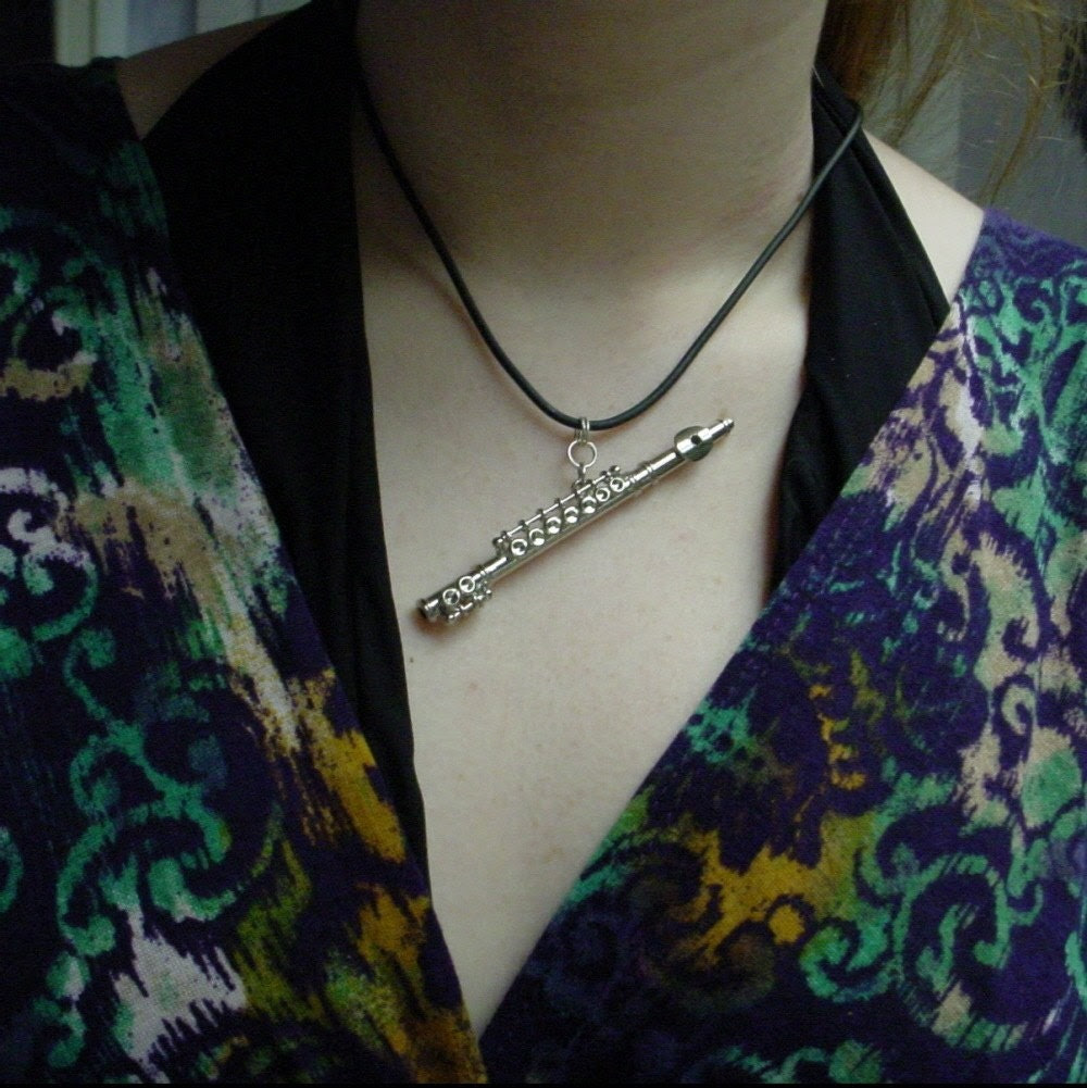 One of a kind FLUTE pendant