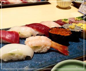 銀座の、母気に入りのお寿司屋さんで