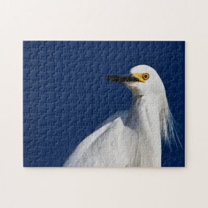 Egret 02 Digital Art - Photo Puzzle