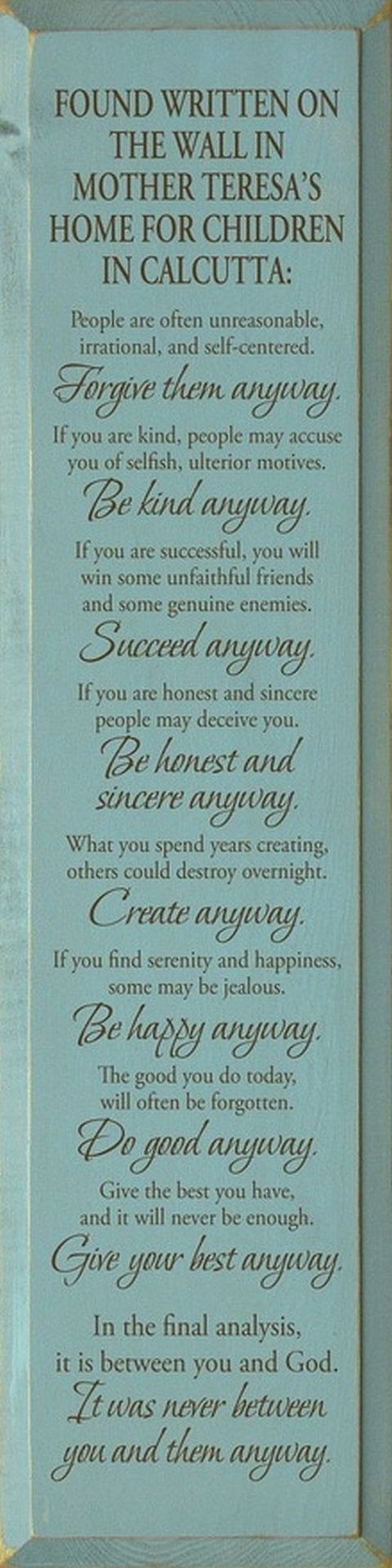 Mother Teresa Quote Wall Art