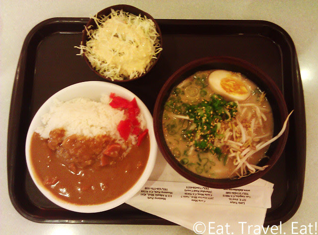 Daikokuya- Arcadia, CA: 1/2 size Curry Rice and Ramen Set