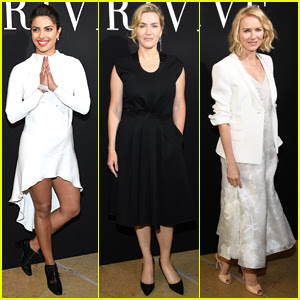 Priyanka Chopra, Kate Winslet, & Naomi Watts Attend the Armani Fashion Show in Paris