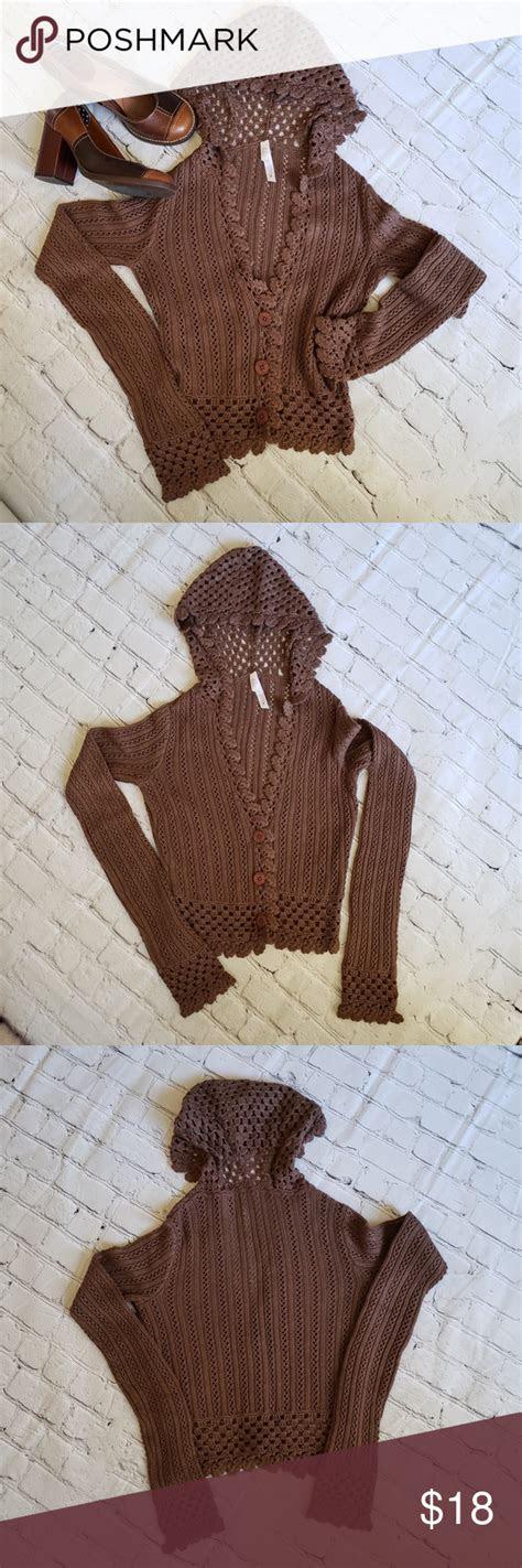 lilu boho open knit angora cardi hoodie sweater lilu boho open knit cardigan hoodie sweater