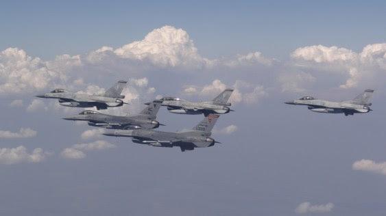 File Photo: Φωτογραφία που εικονίζει πολεμικά αεροσκάφη να συμμετέχουν στην άσκηση «Thracian Star». Πρόκειται για αεροσκάφη F-16 της 111 Πτέρυγας Μάχης. ΑΠΕ- ΜΠΕ, ΓΡΑΦΕΙΟ ΤΥΠΟΥ ΓΕΑ, STR