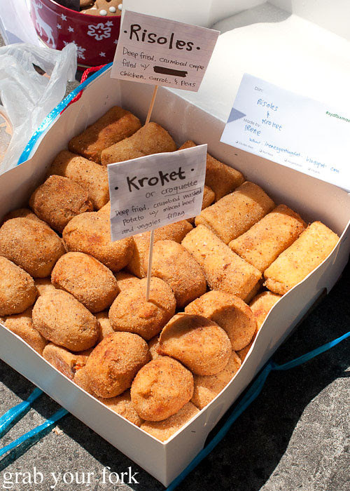 risoles and krokets croquettes at sydney food blogger christmas picnic 2012