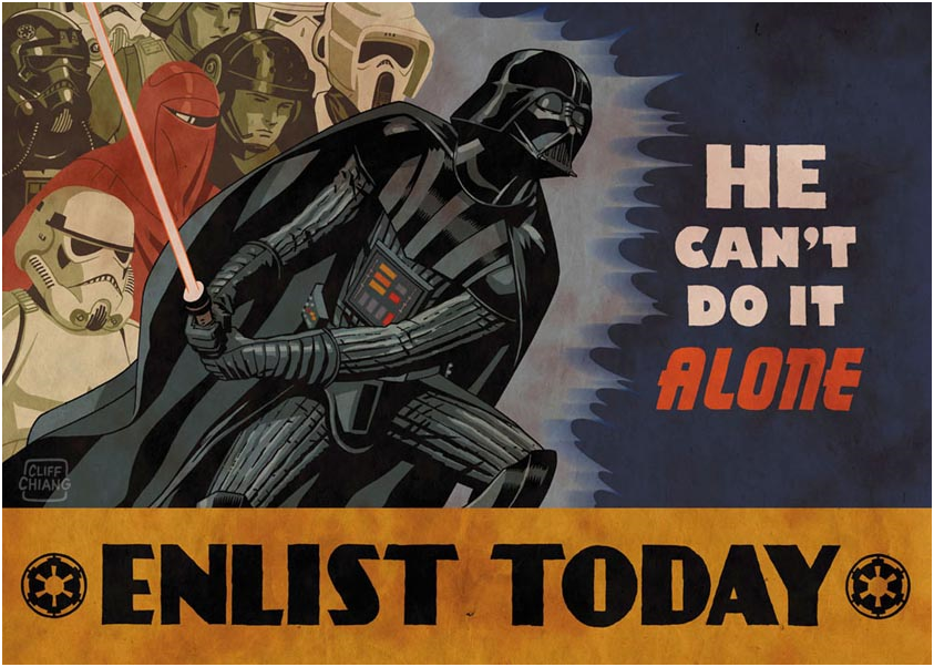 Darth Vader Cant Do It Alone Poster