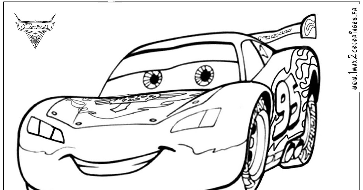 Coloriage204 coloriage flash mc queen - Flash mcqueen film gratuit ...