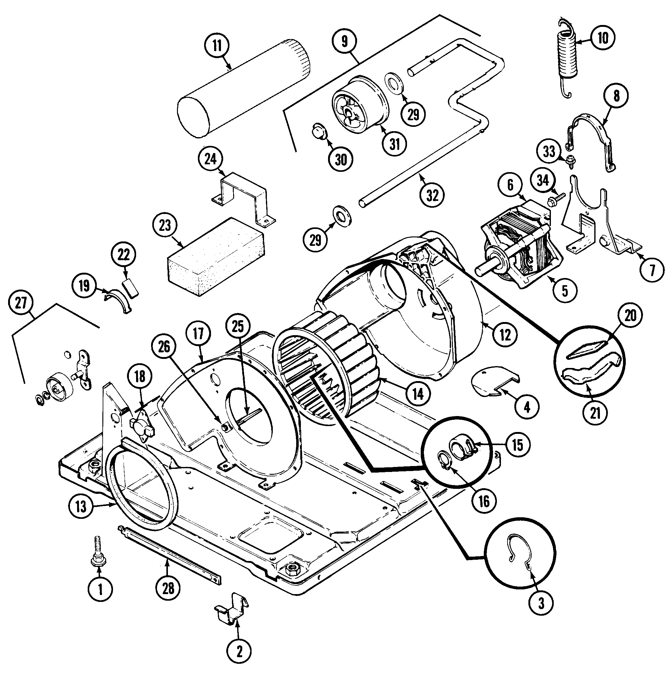 34 Admiral Dryer Parts Diagram