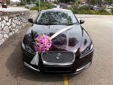 Jaguar XF   Flower Decorations ~ Bridal Car. Car