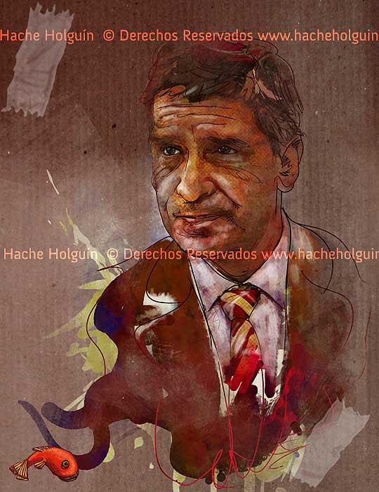 Retrato de Rafael Pardo por Hache Holguín