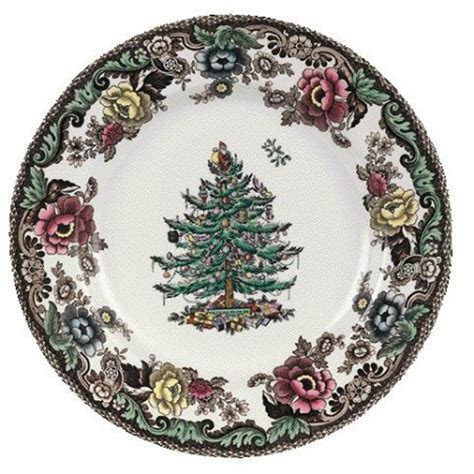 "Spode Christmas Tree Grove Bread & Butter 6.5""   Christmas"