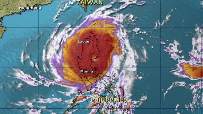 Hình ảnh Siêu bão Koppu đổ bộ Philippines, nguy cơ lở đât và lũ lụt nghiêm trọng số 1