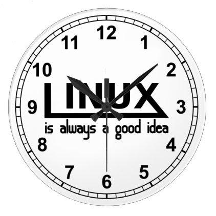 Linux Large Clock