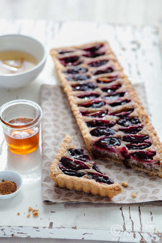 Honey Cinnamon Zwetschgen and Hazelnut Cream Tart  (0024) by Meeta K. Wolff