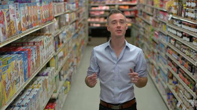 "Bethel filmmaker Lathe Poland, seen here in a supermarket cereal aisle, will be at a Q&A following the premiere of his documentary ""Carb-Loaded: A Culture Dying to Eat"" in Ridgefield, Saturday, Sept. 27. Poland was inspired to make the film after he was diagnosed with diabetes.The disease is on the rise, he said, and we are all affected in one way or another, but there are changes we can make to turn the tide. Photo: Contributed Photo / The News-Times Contributed"