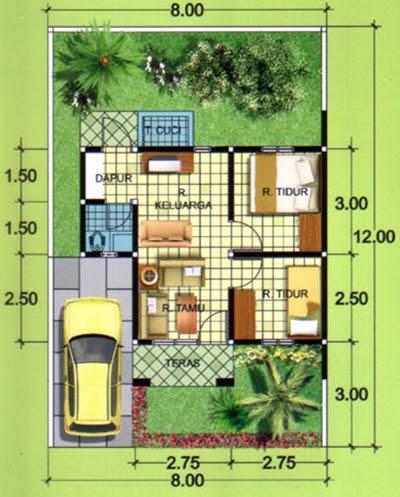 gambar rumah minimalis ukuran 6 x 9 meter