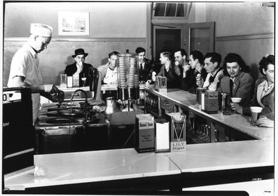 K-State Communications and Marketing Photography: History of K-State &emdash; Call Hall ice cream 1941