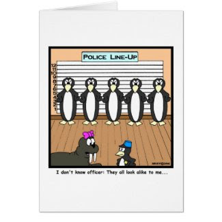 Line-up Greeting Card