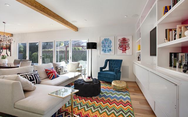 Turquoise LA Interior Design - Venice - contemporary - living room ...