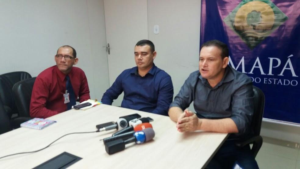 Coletiva de imprensa esclareu parte da investigação (Foto: Jorge Abreu/G1)
