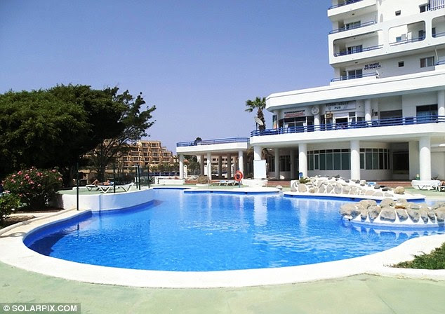 The couple are believed to have been on holiday with their five-year-old daughter as well as the man's father and his partner at the hotel complex (pictured)