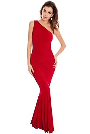 Red evening dress size 8