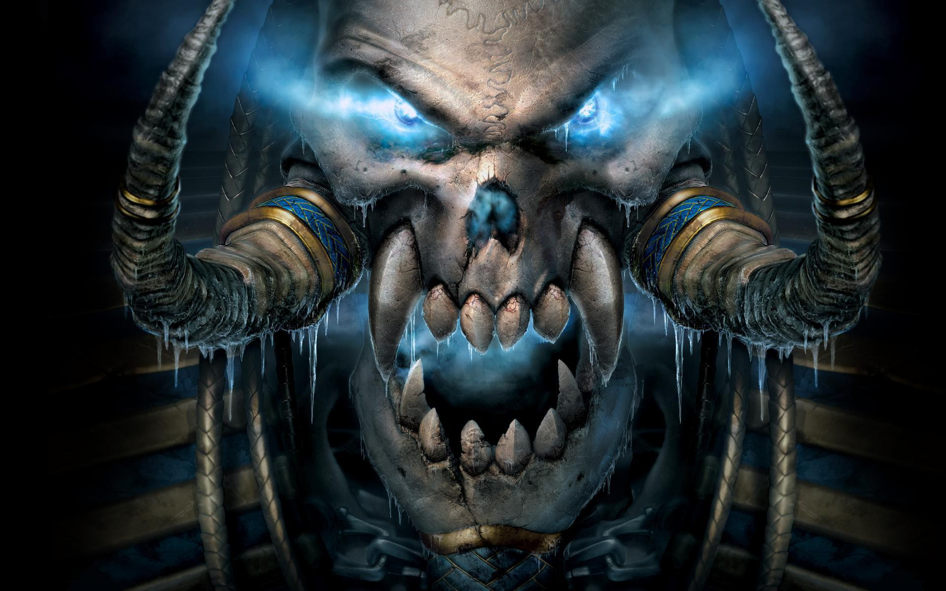 Wallpaper Warcraft Tengkorak Mata Energi Gigi Hd Layar Lebar