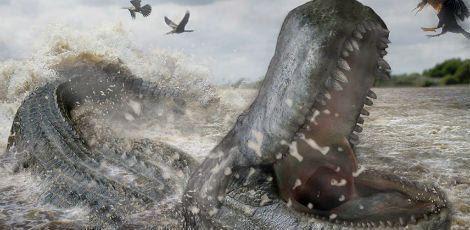 Animal era do tamanho de um caminhão: media 12,5 metros e pesava mais de 8 toneladas / Tito Aureliano (ilustração)