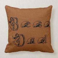 Best Dad Football Text Decorative Pillow
