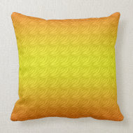 varigated yellow Pattern Throw Pillow throwpillow