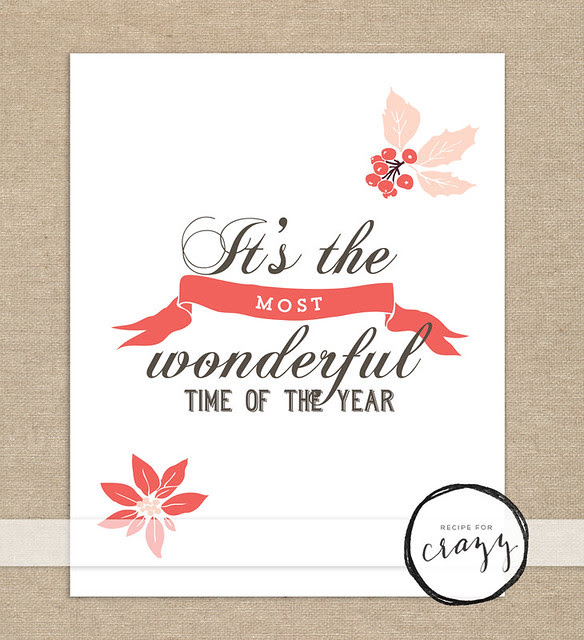 It's the most wonderful time of the year - holiday art print