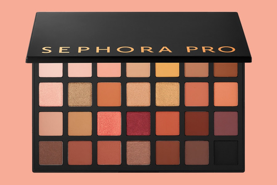 Sephora PRO Warm Eyeshadow Palette Swatches