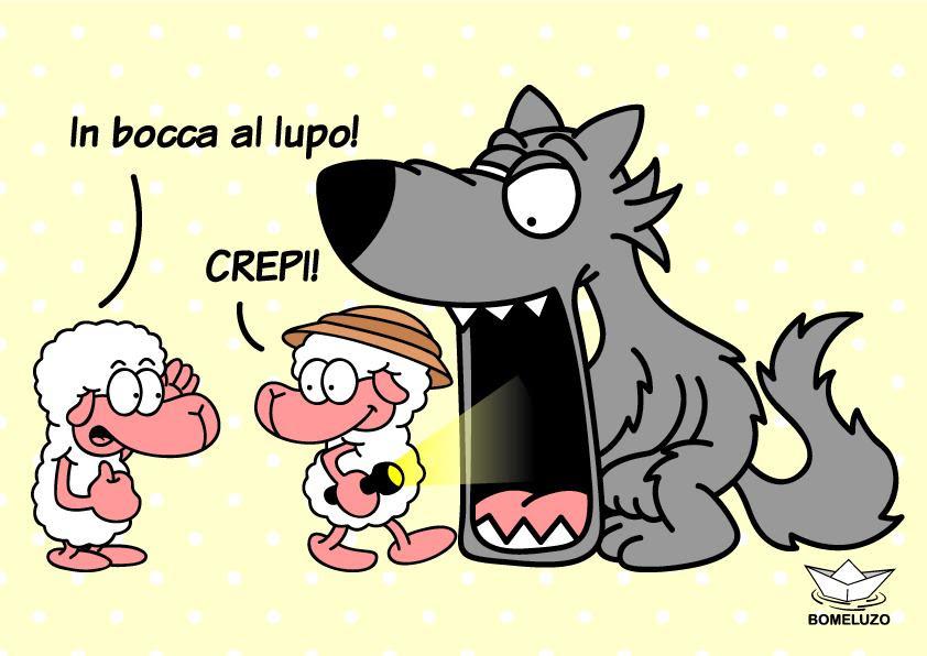 Αποτέλεσμα εικόνας για in bocca al lupo