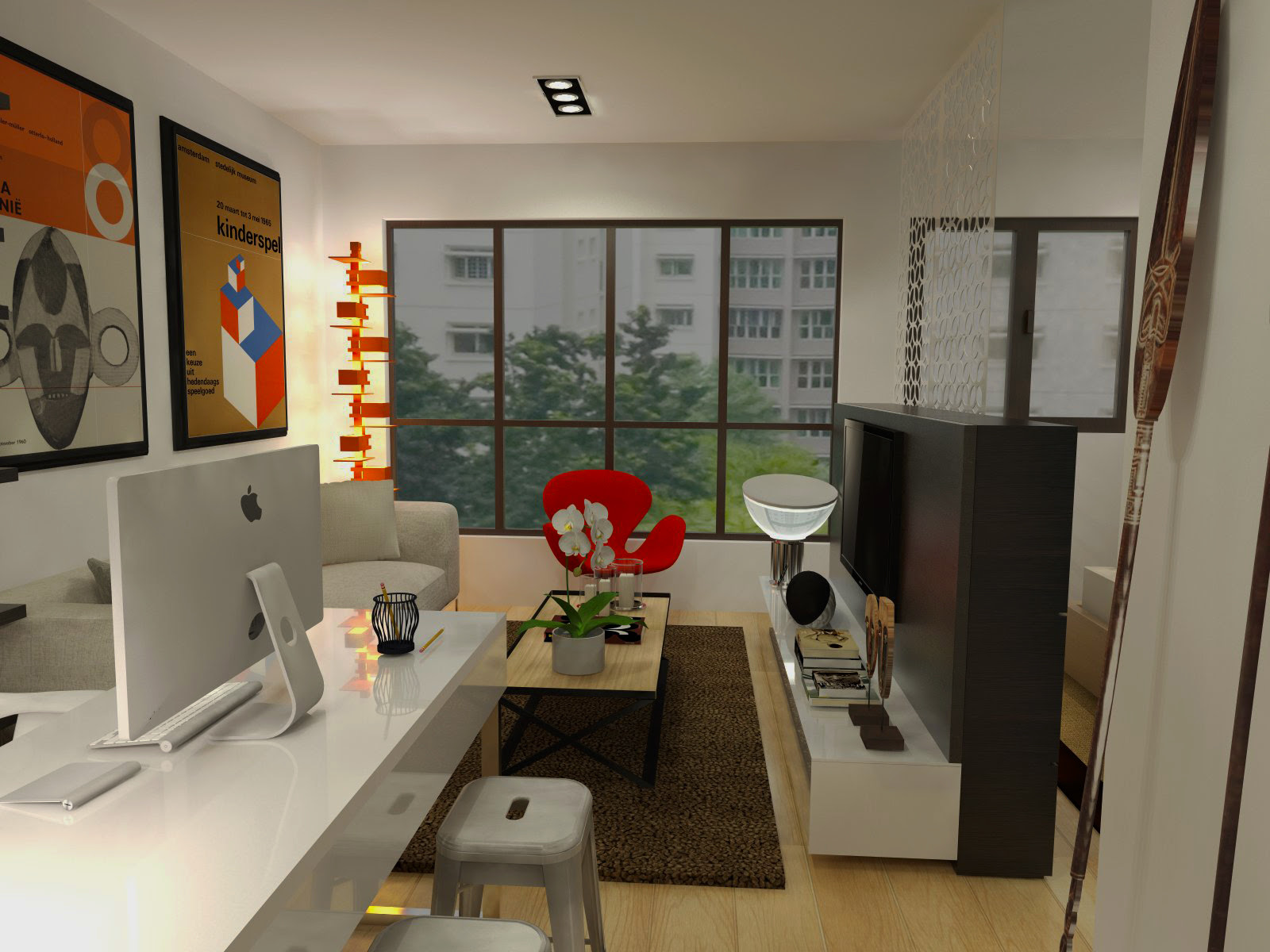HDB Fernvale River Walk 2 Room Apartment 47 sqm Living Room HDRI