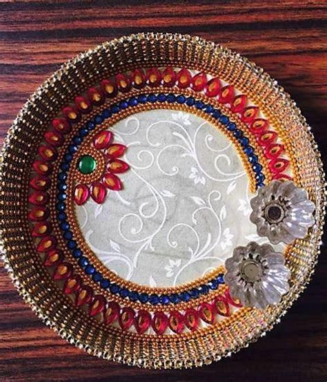 DIY Aarti Thali   Puja Thali Decoration   Pooja Room   Rangoli