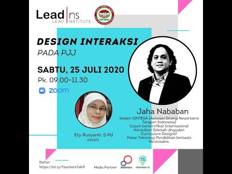 Design Interaksi Pada Pembelajaran Jarak Jauh