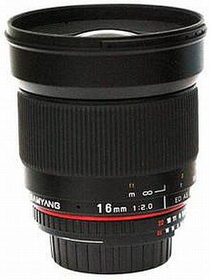 Samyang 16mm f2.0 Nova objetiva Samyang 16mm f/2.0 ED AS UMC CS