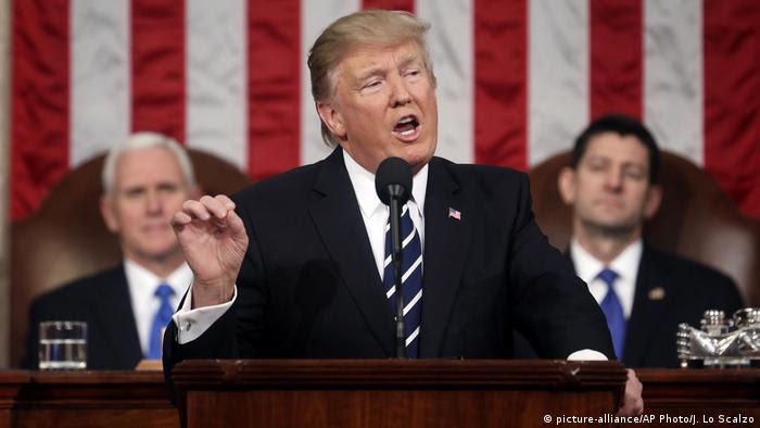 USA Donald Trump vor dem US-Kongress in Washington (picture-alliance/AP Photo/J. Lo Scalzo)