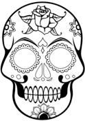 doodskop kleurplaat skelet hoofd