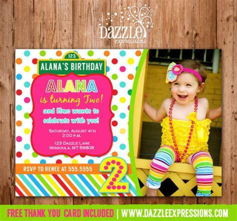 Printable Girl Sesame Street Inspired Birthday Photo