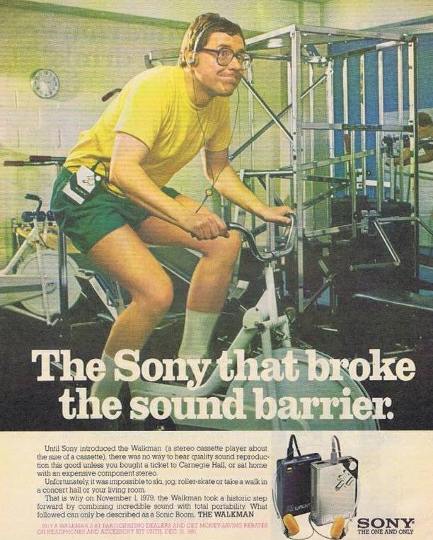 Sony Walkman ad - 1981