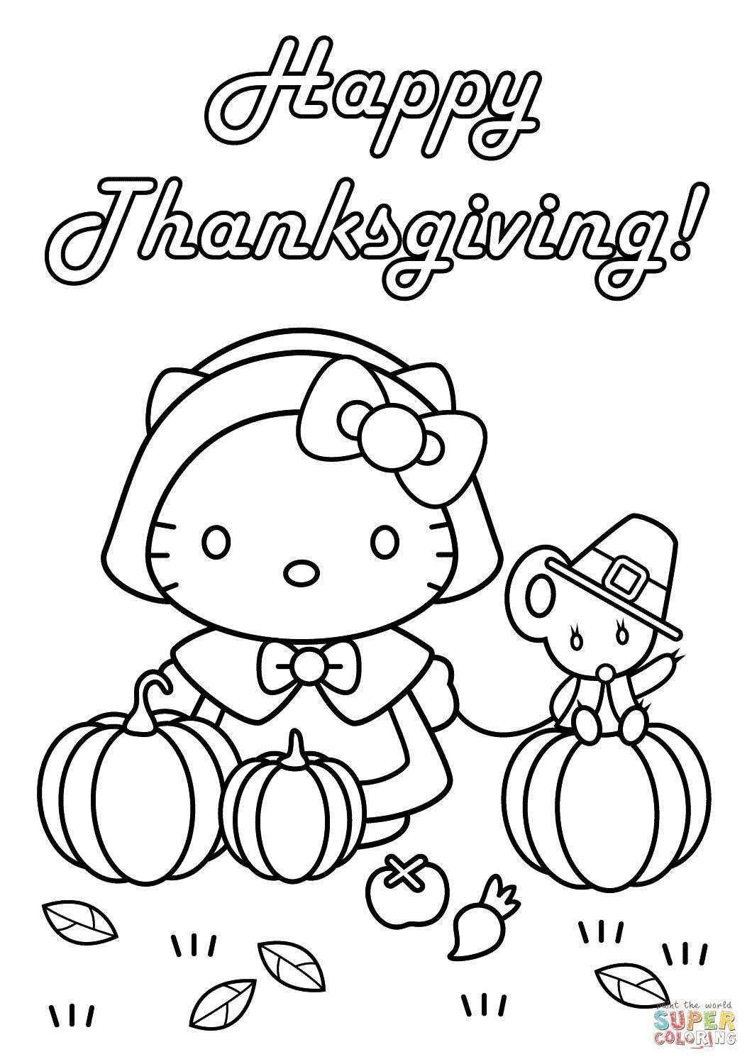 Easy Thanksgiving Coloring Pages at GetColorings.com ...