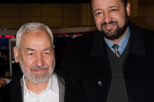 Tunisian Renaissance Party leader Ghannouchi returns home after the unbanning of his organization. The regional uprising began in Tunisia during mid-December 2010. by Pan-African News Wire File Photos