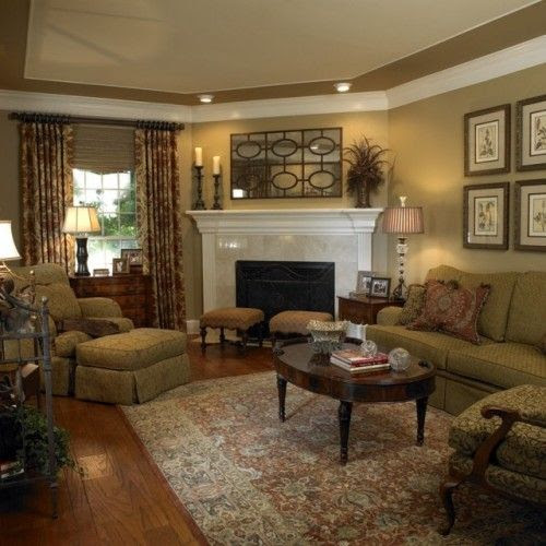 corner fireplace | Living and Family Rooms | Pinterest