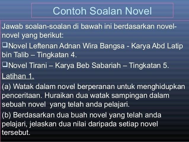 Jawapan Novel Leftenan Adnan - Pijatan s