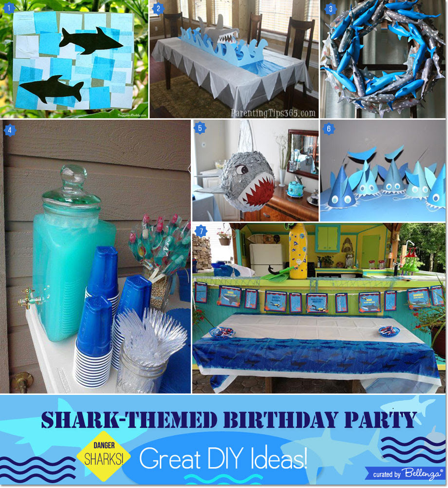 Shark Themed Boys Birthday Party Great Diy Ideas