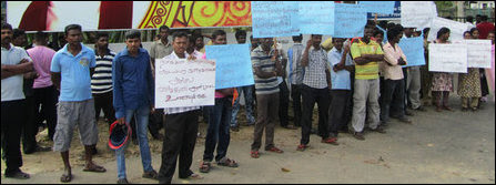 JMC workers protest