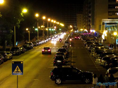 Avenida 25 de Abril da Figueira da Foz de noite [en] Avenue 25 of April in Figueira da Foz Portugal at night